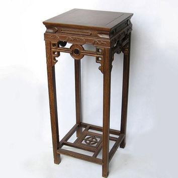 Rosewood handicraft flower wood carving ornaments wings Home Furnishing large wooden flower base