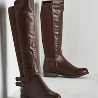 Safari Meandering Standards Boot in Chocolate - Wide Calf