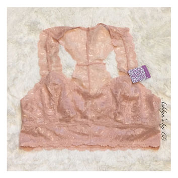 """""""Always More to Love"""" Silky Lace Blush Bralette, Bra"""