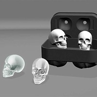 3D Skull Silicone Ice Mold Tray