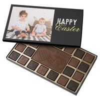 Happy Easter personalize add photo chocolate box