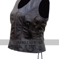 Short Body The Walking Dead Michonne Leather Vest For Women -All Sizes Available