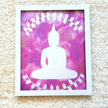 Bohemian Buddha 8.5 x 11 inch art print poster for bed room, dorm room, office, or home decor