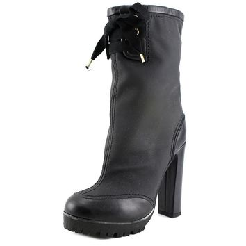 Red Valentino Scarpe Women  Round Toe Leather Black Mid Calf Boot (Size: 9.5, Color: Black)