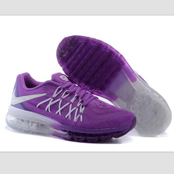 """NIKE"" Trending AirMax Behind the hook section rainbow knited line Fashion Casual Sports Shoes Purple white hook (purple white soles)"
