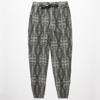 Elwood X-Ray Tie Dye Mens Denim Jogger Pants Black/Grey  In Sizes