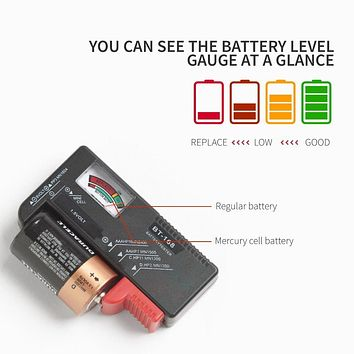 Universal Battery Tester for AA/ AAA/ C/ D/ 9V/ Button Batteries