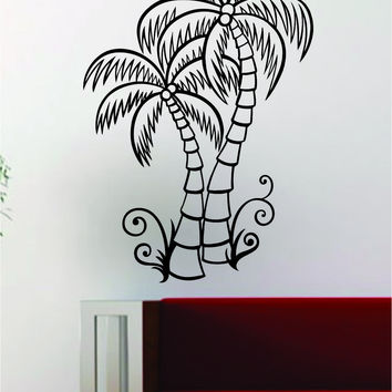 Coconut Palm Trees Decal Wall Vinyl Art Decor Room Beautiful Nature