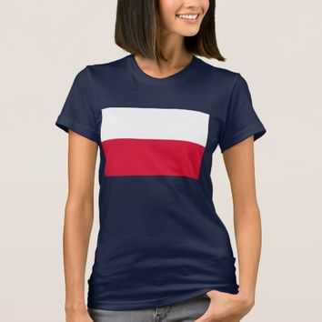 Women T Shirt with Flag of Poland