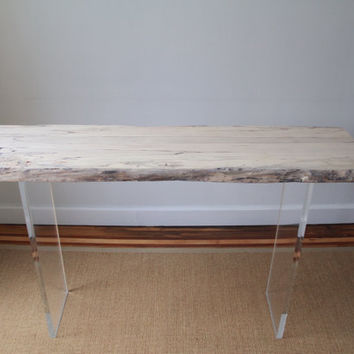 Spalted Maple and Lucite Console