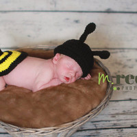 Crochet Baby Bumble Bee Photo Prop