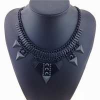 The Black Element Statement Necklace