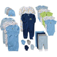 Garanimals Newborn Baby Boy 21 Piece Set, Muli, 0/3 M