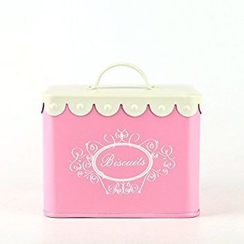Hot Sale X829 Pink Kits Square Metal Mini biscuit tin canister/cookie storage tins/Container/Home Kitchen Gifts with Handle