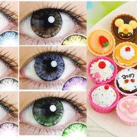 CASE for Colored Contacts Color Contact Lenses Circle Lens (FREE SHIPPING)