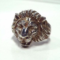 King of the Jungle - Lion Ring - Vintage Sterling Silver