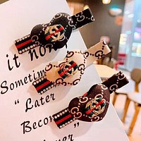 GUCCI Fashion Classic Pattern Red Green Letters Heart Side A Word Clip Duck Mouth Clip Hairpin Accessories