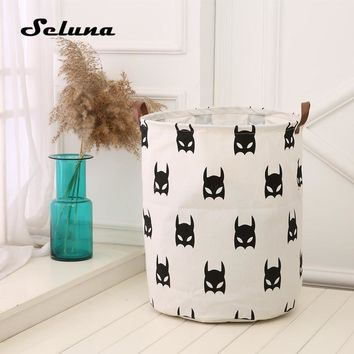 Seluna 2017 New Laundry Basket Storage 40*50cm Large Buckets For Toys Washing Basket Dirty Clothes Sundries Storage Bag Box Bins