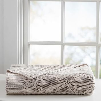 Organic Diamond Weave Throw