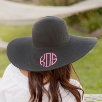 Black Wide Brim Floppy Hat
