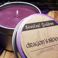 Dragon's Blood Soy Candle - Zen Incense Scent - Great for Magical Work & Meditation