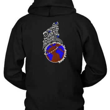 ESBH9S One Direction Quote Globe Hoodie Two Sided