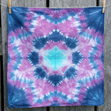 tie dye bandana hair wrap purple and from tiedyeskys