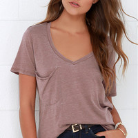 One Pocket V-Neck Short Sleeve T-Shirt
