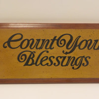 Signs with sayings , Count your blessings , signs with quotes , wooden signs , home decor , personalized signs , sign with saying , quotes