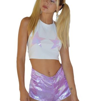 Lilac Fairy Dust Shorts