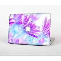 The Vibrant Blue & Purple Flower Field Skin Set for the Apple MacBook Air 11""