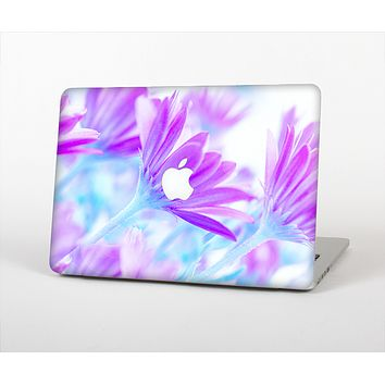 The Vibrant Blue & Purple Flower Field Skin Set for the Apple MacBook Air 13""