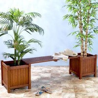Wood Planter Bench - Outdoor Seating and Lounge - Cost Plus World Market