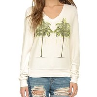 Wildfox Twim Palms Sweatshirt