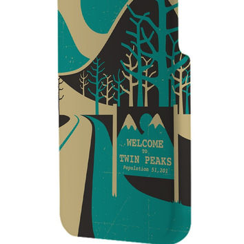 Best 3D Full Wrap Phone Case - Hard (PC) Cover with Wellcome to twin peaks Design