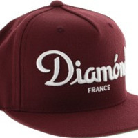 Diamond Champagne Hat Adjustible Maroon
