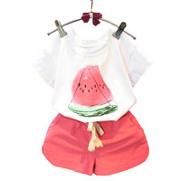 Girls Sets 2017 Summer New Kids Clothes Casual Watermelon Short sleeved T shirt + Shorts Suit Children Clothing-in Clothing Sets from Mother & Kids on Aliexpress.com | Alibaba Group