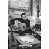 JOHNNY CASH MAN IN BLACK POSTER