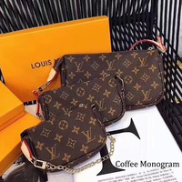 LV classic mahjong bag handbag messenger bag coffee monogram