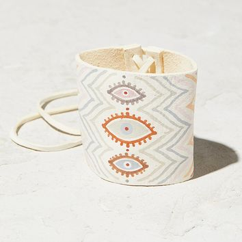 Free People Handpainted Leather Cuff