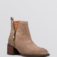 Jeffrey Campbell Pointed Toe Ankle Booties - Boone Cut Out Mid Heel