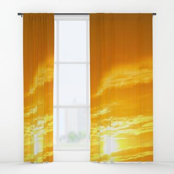 Μy Νeighborhood Sunset Window Curtains by Azima