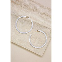 Perfect White Resin Hoops
