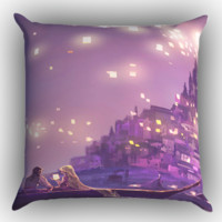 Disney Tangled the lights Zippered Pillows  Covers 16x16, 18x18, 20x20 Inches