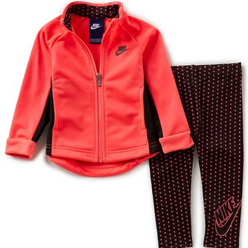 Nike Baby Girls 12-24 Months Tunic Jacket & Dotted Pant Set | Dillards
