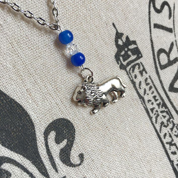 Book Lover Gift C S Lewis Aslan Lion Necklace Sorority Jewelry Alpha Delta Pi Animal Lover Gift Greek Big Cat Jewelry Big Little Initiation