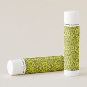 Green flower pattern lip balm