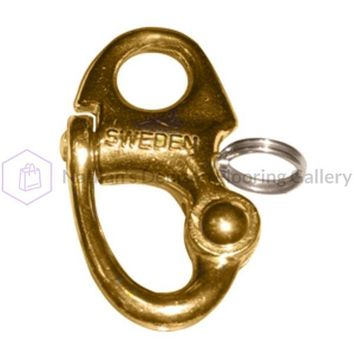 Ronstan Brass Snap Shackle - Fixed Bail - 59.3mm (2-5/16) Length