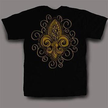 Sweet Thing Funny Black & Gold Fleur De Lis Girly Bright T-Shirt