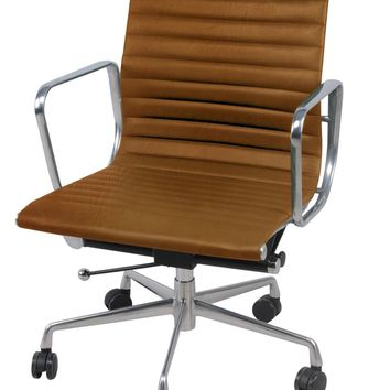 Langley Low Back Office Chair, Vintage Tawny